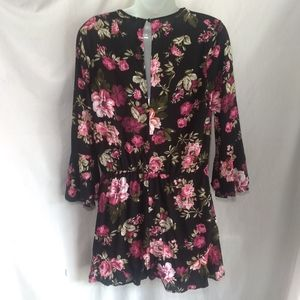 Ambiance Floral Bell Sleeve Romper
